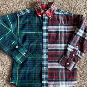 Boys Ralph Lauren  Plaid Oxford Shirt SZ 6